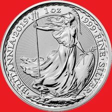 2019 1oz silver Britannia Bullion Coin in COIN CAPSULE