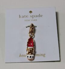 New KATE SPADE How Charming Polka Dot Shoe Charm Bracelet Pendant