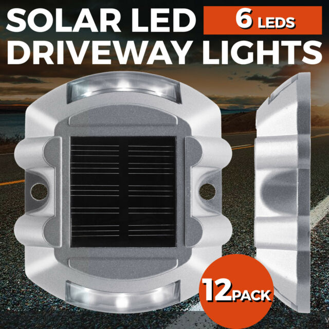 12 Pack Solar LED Driveway Lights Outdoor Pathway Dock Path Step Road Warning