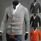 Fashion Mens Slim Fit V-neck Knitwear Pullover Cardigan Sweater Jacket Coat Tops