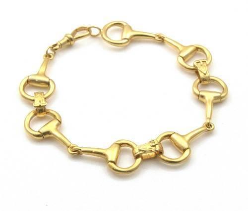 Bridon Équestre peu bracelet solide en or 9 carats 25 grammes