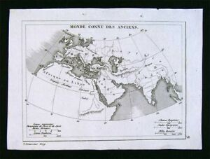 c-1835-Levasseur-Ancient-World-Greece-Roman-Europe-Asia-Minor-Libya-Africa-Asia