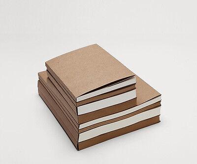 Heavy KRAFT cover JOURNAL Blank sketchbook Inner White/Kraft paper 60/120 sheets