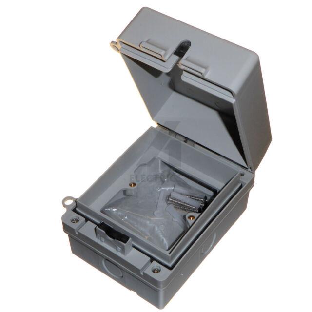1 Gang Weatherproof Enclosure Ip65 For Outdoor Socket Switch Rcd Timer Electrics For Sale Online