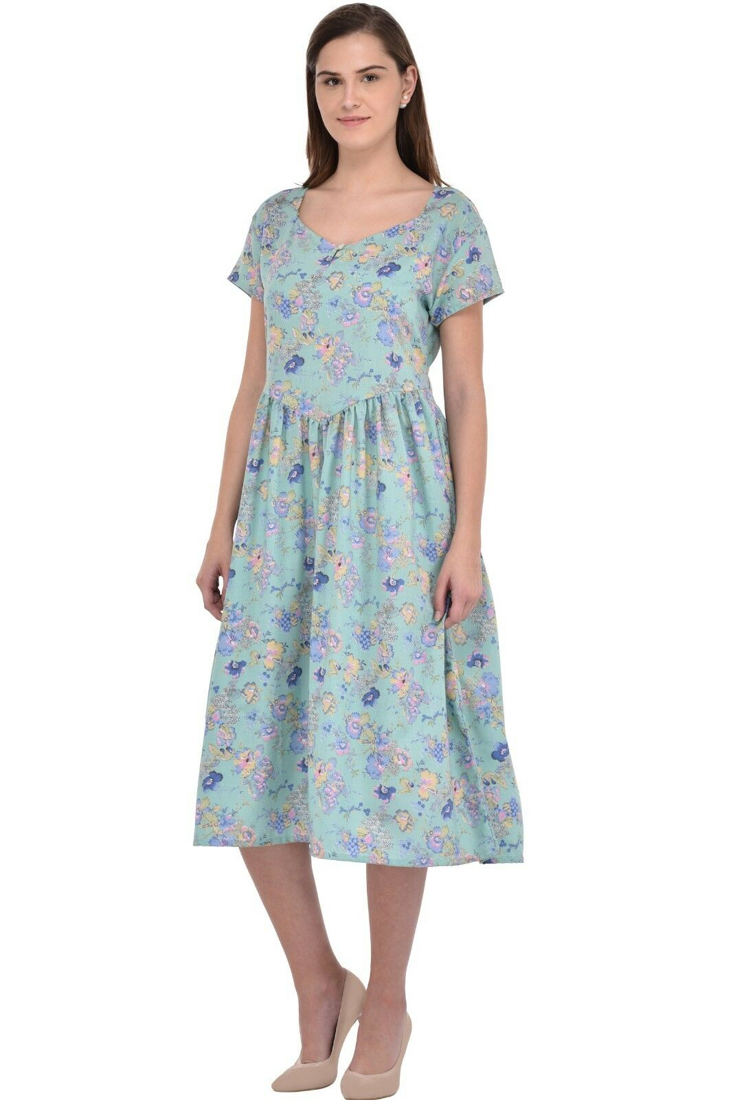 Cotton Lane Wrinkle-resistant Dress D53PTD. Sizes to to to 38 d94408