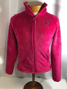 0e26df4c9 Details about North Face Hot Pink Fuzzy Women's Zip Unlined Jacket Size XS