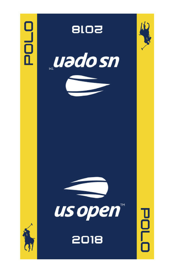 New 2018 US Open Men's Players official on court dated Towel POLO RL USTA Yellow