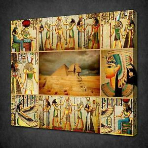 ANCIENT-EGYPTIAN-GODS-PAPYRUS-CANVAS-PICTURE-PRINT-WALL-ART-FREE-FAST-DELIVERY
