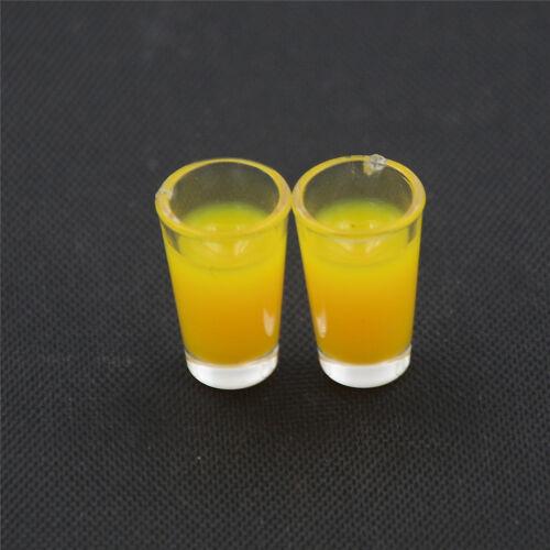 2PCS 1:12 Dollhouse Miniature Accessories Plastic Juice Cup Milk Cup Water CuLA