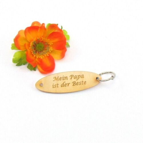 Geburtstag Schlüsselanhänger Geschenk Idee aus Holz Mein Papa ist der Beste