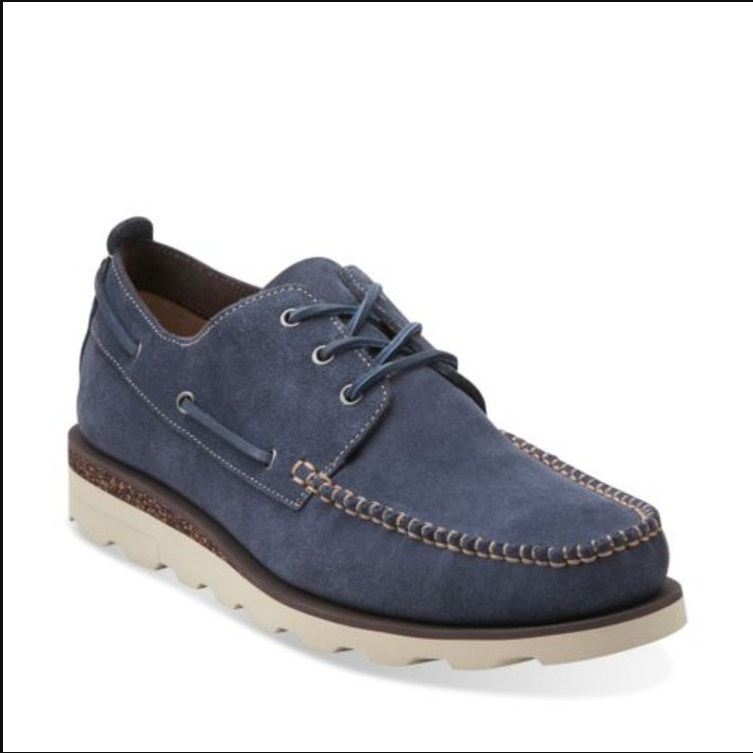 Clarks Men Dakin Row Dark Blau Suede  schuhe UK 10 11   EU 44.5 46
