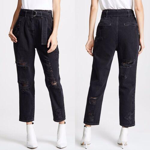 IRO Muylo Ripped High Rise Black Denim Jeans Sz 29