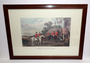 Returning From The Hunt Lithograph Print by W. Shayer Engraved by C.R. Stock