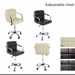 Incredible Details About Swivel Office Computer Study Chair Height Adjustable Lockable Home Furniture Theyellowbook Wood Chair Design Ideas Theyellowbookinfo