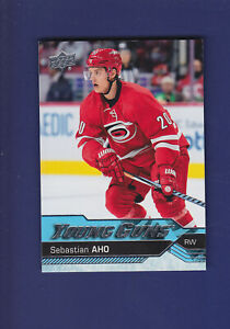Sebastian-Aho-RC-2016-17-Upper-Deck-UD-Hockey-Young-Guns-210-MINT-Hurricanes