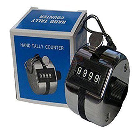 100/% Original Silver Hanumex Steel Hand Held 4 Digit Manual Tally Counter