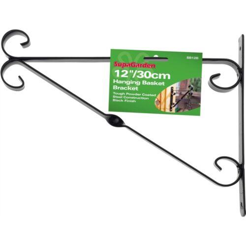 Supagarden Hanging Basket Bracket 30cm//12 Black