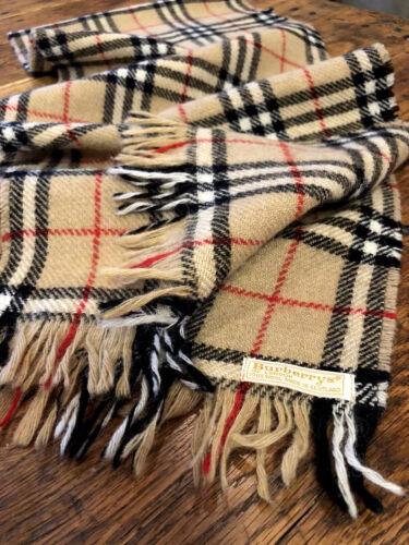 Vintage BURBERRY London Wool Knit Camel Nova Check