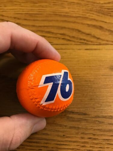 Vintage Union 76 Baseball Foam Antenna Topper Gas Oil Advertising