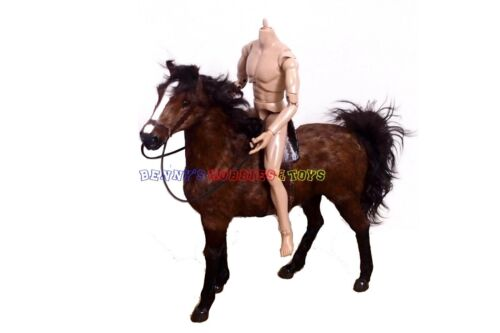 """1 x New 1//6 Scale War Battle Brown Horse For 12/"""" Action Figures WWII Soldiers"""