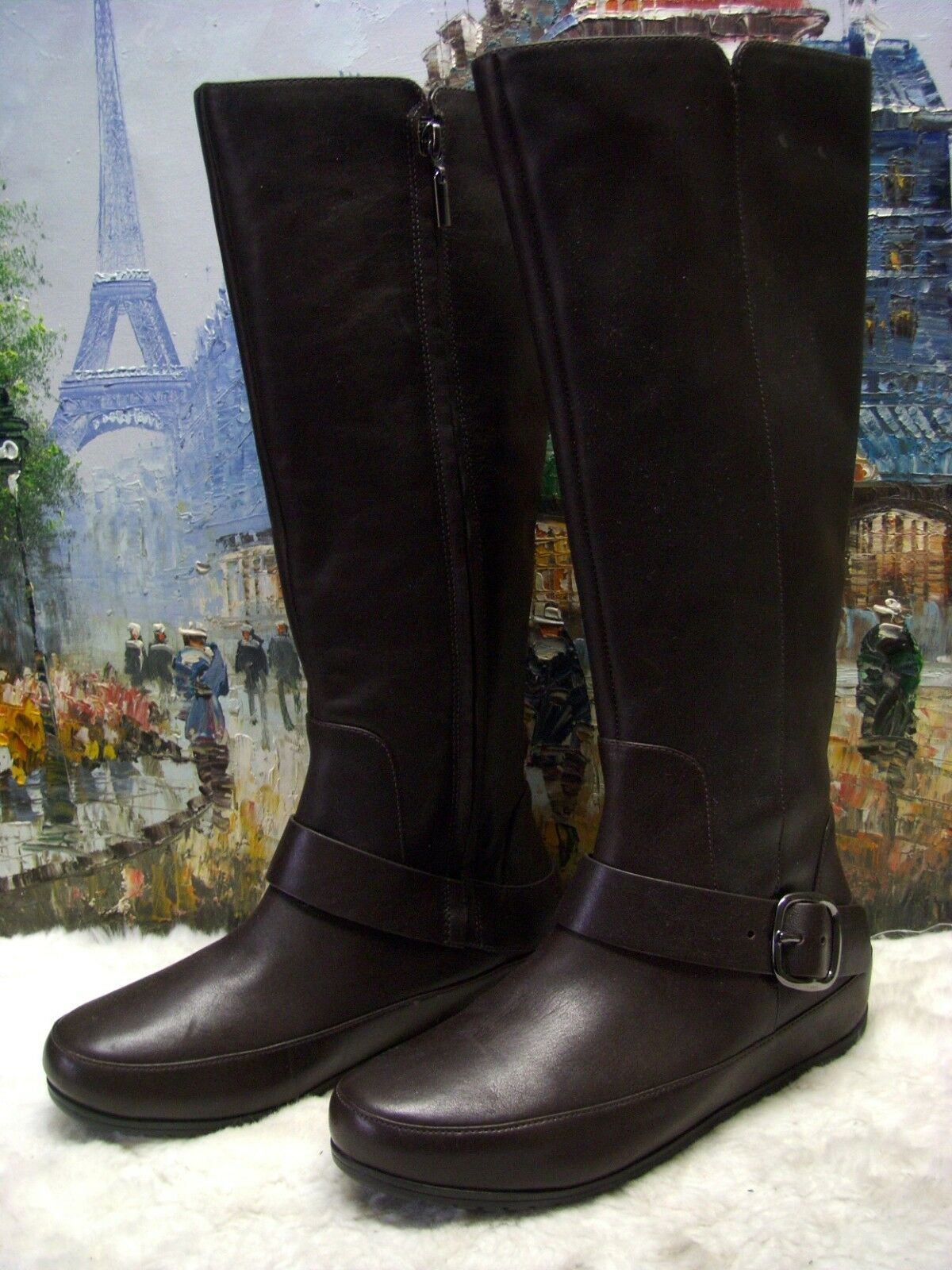 FitFlop 'Dueboot Buckle' Tall Leather Boot - Size 37 - $294.95