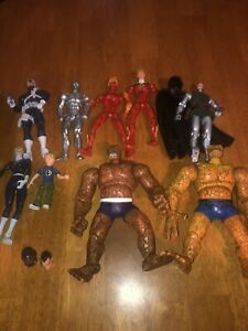 Marvel-Legends-Fantastic-Four-Team-Set-of-9-Figures-Lot-toy-biz-PLEASE-READ