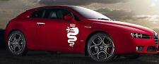 Alfa Romeo Aufkleber Schlange Biscione 50cm Logo, weiß oder schwarz