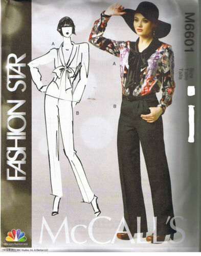 Blouse Top Front Pleated Pants Fashion Star Sewing Pattern Plus 16 18 20 22 24