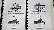 HARLEY DAVIDSON 2008 SPORTSTER MODEL ELECTRICAL DIAGNOSTIC MANUAL REPRINTED A4