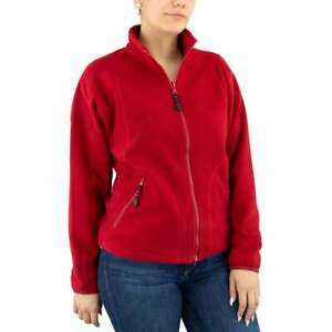 River-039-s-End-Microfleece-Jacket-Womens-Athletic-Jacket-Lightweigh-Red-Size