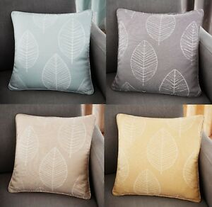 Details about Helsinki Cushion Covers-Sofa Cushions Modern Large Leaf In 4  Colours 17\