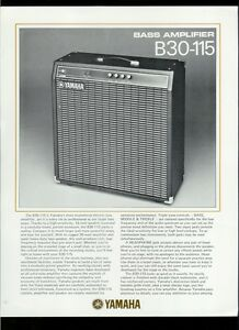 rare original factory yamaha b30 115 bass guitar amplifier dealer sheet page ebay. Black Bedroom Furniture Sets. Home Design Ideas