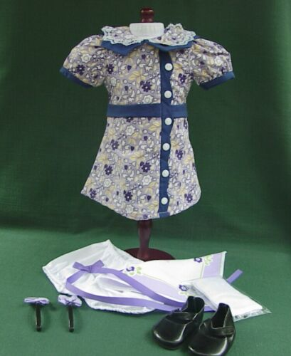 + RUTHIE AMERICAN GIRL KIT MEET Outfit REPRO DRESS SHOES SOCKS BLOOMERS HANKIE