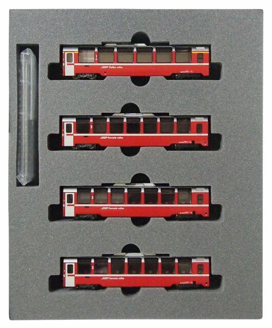 N gauge 10-1319 Rhaetian Railway-Bernina Express 4-car add-on set by Kato