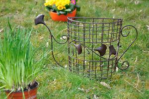 Nostalgie Gießkanne Garten Deko Pflanzkübel Blumentopf Landhaus