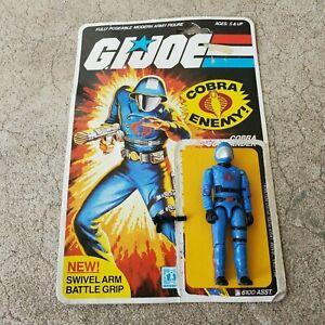 Vintage GI Joe Figure 1983 Cobra Commander complete with full file card