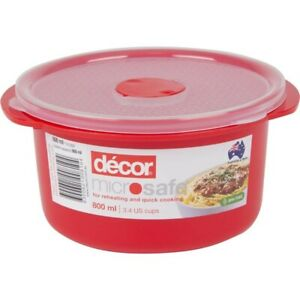 Decor Microsafe Round Container 800mL 1ea