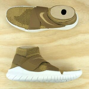 2b5db506f45e7 Nike Free RN Motion Flyknit Gold White Cross Fit Running Shoes ...
