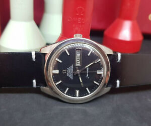 RARE-VINTAGE-OMEGA-SEAMASTER-CHRONOMETER-BLACK-DIAL-CAL-751-AUTO-MAN-039-S-WATCH