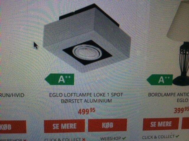 Anden loftslampe, Eglo