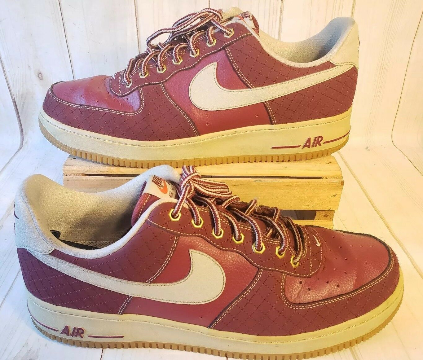 NIKE AIR FORCE 1 - TEAM RED LIGHT BROWN 488298-625