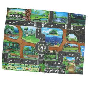 Baby Carpet Developmetal Dinosaur World Traffic Road Play Mat Car Game Toy