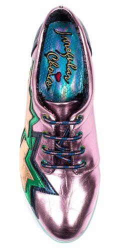 Irregular Choice NEW Star Light pink navy gold lace up flat fashion shoes 3-8
