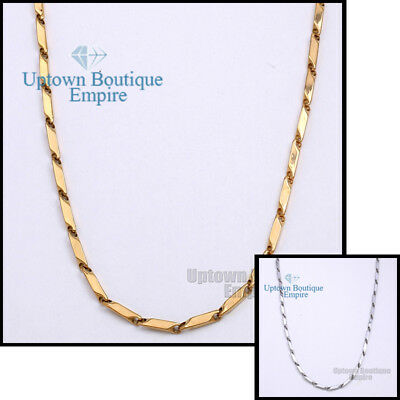 """36/"""" Gold Stainless Steel 4 mm Arrow Bullet Necklace Chain for Men/'s"""
