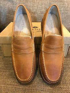 Sperry Mens Essex Penny Leather Round