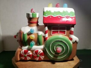 2008-Hallmark-Christmas-Musical-Express-Gumdrop-Gingerbread-Train-034-PreOwned-034