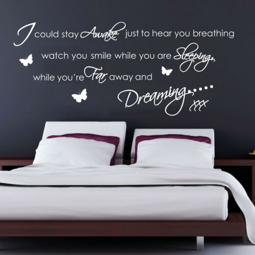 Graphic Transfer sg68 Decal Aerosmith Breating Quote Music Wall Art Sticker