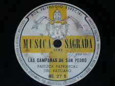 CATHOLIC 78 rpm RECORD Musica Sagrada POPE PIO XII Argentina AÑO 1950 SANTO Rare