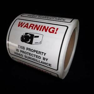 BULK SECURITY SYSTEM CAMERA WARNING STICKERS DECALS LOT