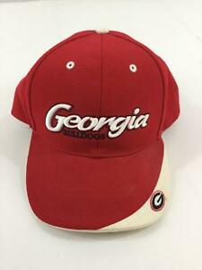 7986da77ab3 Vintage Georgia Bulldogs Baseball Hat Lids Red White One Size Hook ...